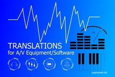 Translation services for professional & consumer audio/video equipment and software. Translation of technical and promotional material for audio, video and music production products: music players, amplifiers, hi-fi systems, videocameras, video and audio editing software, mixers, DAWs, synthesizers etc. #music #translations #audio #video #equipment #software #synths #mixers #videoedting #musicproduction