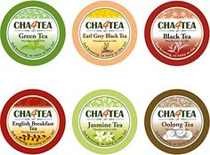 Cha4TEA 36 Keurig K-Cup Tea Variety Flavor Sampler Pack K Cups (Green Tea, Black Tea, Jasmine, Earl Grey, Oolong Green Tea, English Breakfast) ** You can find out more details at the link of the image.