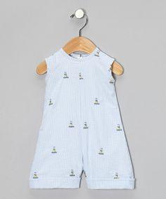 Blue Sailboat Seersucker Romper - Infant & Toddler