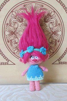 Troll Poppy crochet troll doll. Soft toy