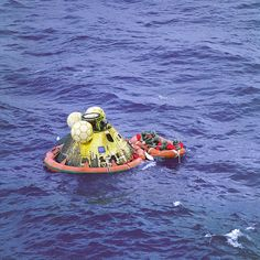 Apollo 11 Crew in Raft before Recovery | by NASA on The Commons