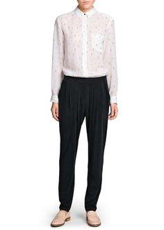 Cómo conjuntar los pantalones anchos, palazzo y baggy pants: Fotos de los modelos (21/44)   Ellahoy
