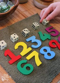 Preschool Math Games with Loose Parts - One Perfect Day