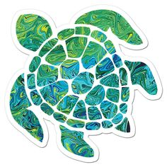 The Sea Turtle Art Sticker by NeverWonderStudio on Etsy https://www.etsy.com/listing/205538192/the-sea-turtle-art-sticker
