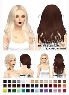 Miss Paraply: Hair retexture / Newsea hairs • Sims 4 Downloads