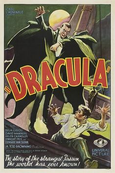 classic posters, free download, graphic design, movies, retro prints, theater, vintage, vintage posters, horror movie, Dracula, by Carl Laemmle