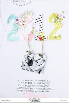 """Hallo Ihr Lieben, heute zeige ich Euch das erste Layout, welches ich mit dem April-Kit """"Regenbogenparty"""" der Scrapbook Werkstatt ..."""