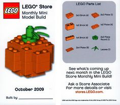 LEGO Store MMMB - October 2009 (Pumpkin) by TooMuchDew, via Flickr