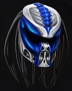 Predator Motorcycle Helmet Skull Motif (Dot Certified) Motorcycle Helmet Design, Biker Helmets, Motorcycle Clubs, Motorcycle Style, Predator Costume, Predator Helmet, Predator 2, Airsoft Mask, 3d Cnc