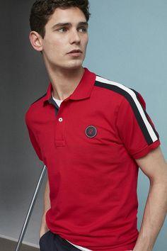 Boy in red Polo Shirt Style, Polo Shirt Design, Polo Rugby Shirt, Mens Polo T Shirts, Polo Tees, Tee Shirts, Men's Polo, Polo Outfit, Ch Carolina Herrera