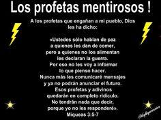 """JESUS PODEROSO GUERRERO: MIQUEAS 3:5-7~~~ """" Los profetas mentirosos """""""