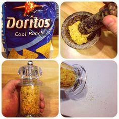 Cool ranch Doritos spice. Magical