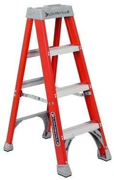 Heavy-Duty Fiberglass Step Ladder Ideal for Low and medium height jobs Offers Great Features including Pro-Top and Da BootLouisville Ladder Premium Step ladders are ideal low and medium height jobs. These steps are able to hold up to 300 pounds. Every stepladder has grooved steps to provide maximum traction. In addition, every step has a double rivet construction.