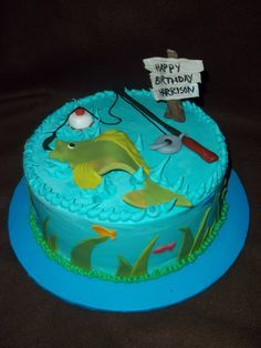 little boys fishing cake - Google Search