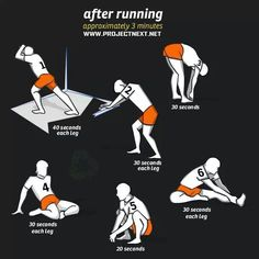 Running stretches- And I would repeat 3 times each side.