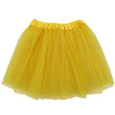 9e856a08ac3 Yellow adult tutu skirt has an elastic covered stretch waist. Perfect for  parties