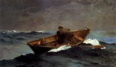 Winslow Homer (American artist, 1836-1910)  Lost on the Grand Banks