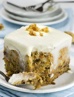 Carrot Cake Poke Cake - Chocolate Dessert Recipes - OMG Chocolate Desserts
