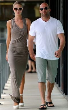 Ravishing Rosie Huntington-Whiteley and her beau Jason Statham step out for brunch in Malibu. http://www.eonline.com/photos/6/the-big-picture-today-s-hot-pics/297726