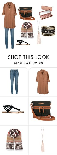 """""""hijab outfit"""" by sewarmohamed on Polyvore featuring Frame Denim, United by Blue, Sole Society, Rosetti, Oasis, Eloquii and Urban Decay"""