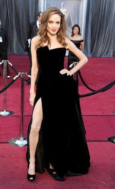 "Versace - Oscars 2012 Angelina Jolie's ""right leg"""