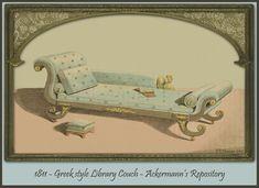 EKDuncan - My Fanciful Muse: Regency Furniture 1809 Ackermann's Repository Series 1 Regency Furniture, Furniture Dolly, Cheap Furniture Online, Discount Furniture, Vintage Furniture Design, Antique Sofa, Regency Era, Vintage Ephemera, Interior Design Inspiration