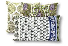 S/3 Leah Cotton Pillows, Multi on OneKingsLane.com