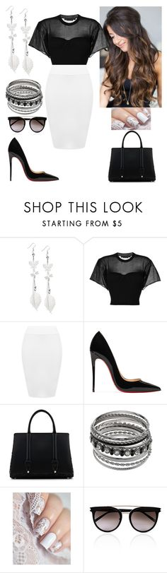 """Workwear"" by paoladouka on Polyvore featuring Alexander Wang, WearAll, Christian Louboutin, La Perla and Calvin Klein"