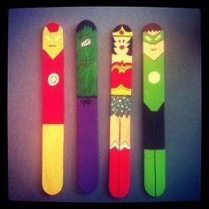 Week 4: Popsicle Heroes (Have kids draw superheroes or personal heroes, like mom/dad, teacher, etc.)