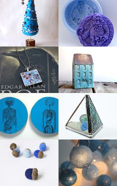 Blue Christmas gift and decor 005 by Alexey M on Etsy--Pinned with TreasuryPin.com