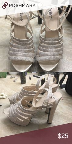 Derek Gold Rose heels Rose gold s raspy heels only worn once Derek Lam Shoes Heels