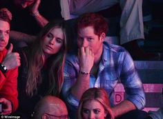 Cressida Bonas and Prince Harry at a Wembley Arena charity event in 2014...