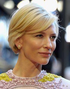 KATE BLANCHETT | Kate Blanchett oczarowała fanów nową fryzurą - jasny bob ...