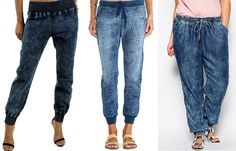 Denim Joggers for all shapes via TIffany Pinero Style shopping