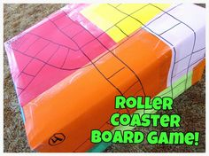 We made a homemade board game this week and it is SO much fun! My son named it the Roller Coaster Game- which I think it perfect. Math Games, Activities For Kids, Classroom Games, Vocabulary Activities, Science Resources, Diy Games, Classroom Ideas, Creative Teaching, Creative Play