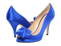 3f58eb03d04e Kate Spade New York Clarice Cobalt Satin - Zappos Couture