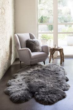21 Best Grey Sheepskin Rugs Pillows