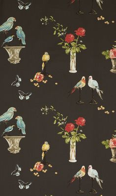 birds and vases