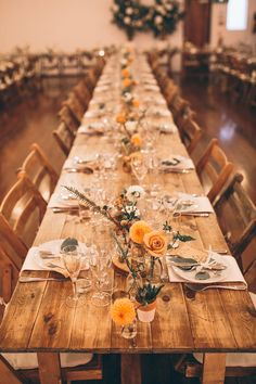 Rustic Trestle Tables with Industrial Lighting, Geometric Terrarium Decor & Autumnal Blooms - Story + Colour Photography | Two Part Wedding with Humanist Ceremony at The Worx London | Gold Wedding Dress | Forest Green Ghost Bridesmaid Dresses | Autumnal Flowers | Geometric Terrarium Decor