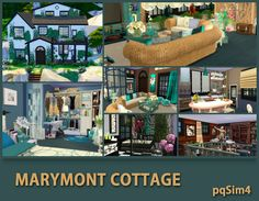 Sims 4 CC's - The Best: Marymont Cottage by pqSim4