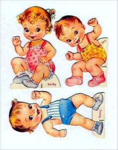 Found adorable paperdolls! Paper Toys, Paper Crafts, History Of Paper, Paper Dolls Printable, Vintage Cards, Vintage Clip, Hallmark Cards, Vintage Paper Dolls, Free Graphics