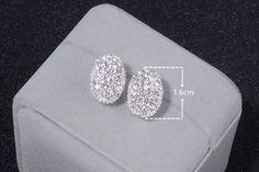 Price: $1.99, Free shipping Stunning Romantic Silver Color Earrings with Cubic Zirconia