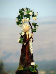 Agulha feltro Waldorf inspirado Árvore feericamente da arte da boneca Natureza decoração de mesa