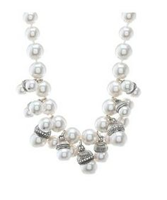 My Flat In London Pemberley Bib Necklace #accessories  #jewelry  #necklaces  https://www.heeyy.com/suggests/my-flat-in-london-pemberley-bib-necklace-pearl/