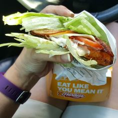 I had a big sloppy #lowcarbstyle Grilled Chicken Club with #lettucewrap from #hardees for my #lowcarbdinner tonight. They are 7 #netcarbs #lowcarbonthego #lazylowcarb #lowcarbfastfood #lowcarb #lchf #ketogenic #keto #atkins #ketodiet #lowcarbchallenge #realfood #keepitsimple #stayontrack #eathealthy by lowcarbtraveler