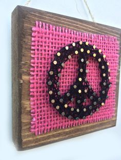 PEACE String Art Home or Office Decor by Edgeofthewoodsart on Etsy