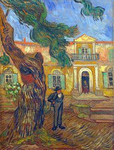 Vincent Van Gogh - Tree and Man (Saint Paul Hospital at Saint Remy) Art Print. Explore our collection of Vincent Van Gogh fine art prints, giclees, posters and hand crafted canvas products Vincent Van Gogh, Dutch Artists, Famous Artists, Claude Monet, Van Gogh Arte, Van Gogh Pinturas, Georges Seurat, Van Gogh Paintings, Art Van