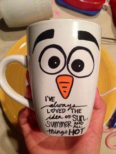 olaf mug! I want one!!! ❄️⛄️❄️☀️