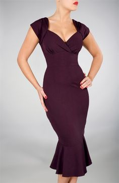 I love this style of neckline, and the purple color is sooooo rich! Yum! This is the Lula dress by Stop Staring! Clothing.
