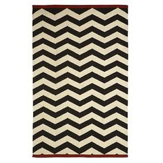 west elm zigzag rug. love.